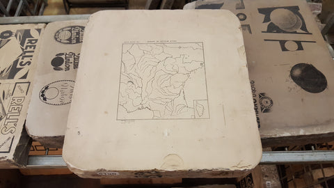 Litho Stone Map of France