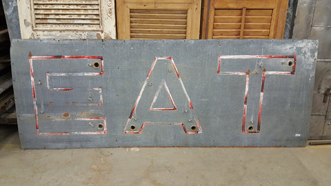 Galvanized Metal EAT Sign (Restaurant)
