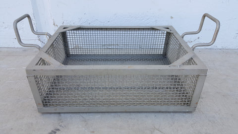 Airplane cargo basket, square, metal, with non-movable handles