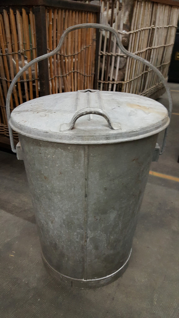 Small Galvanized German Trash Can