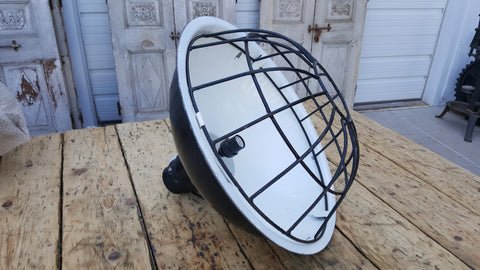 Black Caged Iron Hanging Light