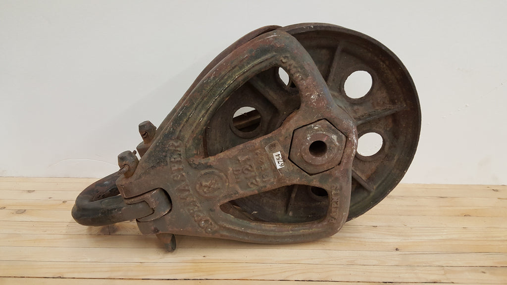 "Large Iron ""Ropemaster"" Pulley"