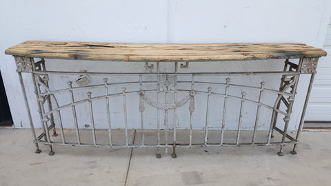 Architectural Balcony Rail Console Table