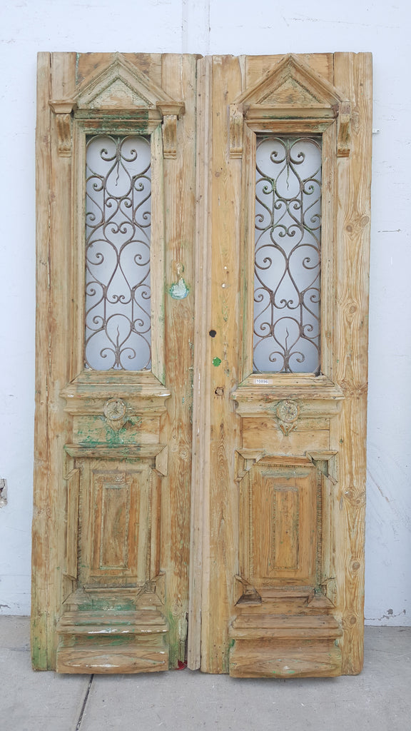 Wood Doors with Iron Inserts on Top, c.1880 France