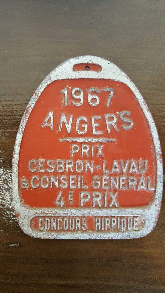 1967 Red Angers French Plaque