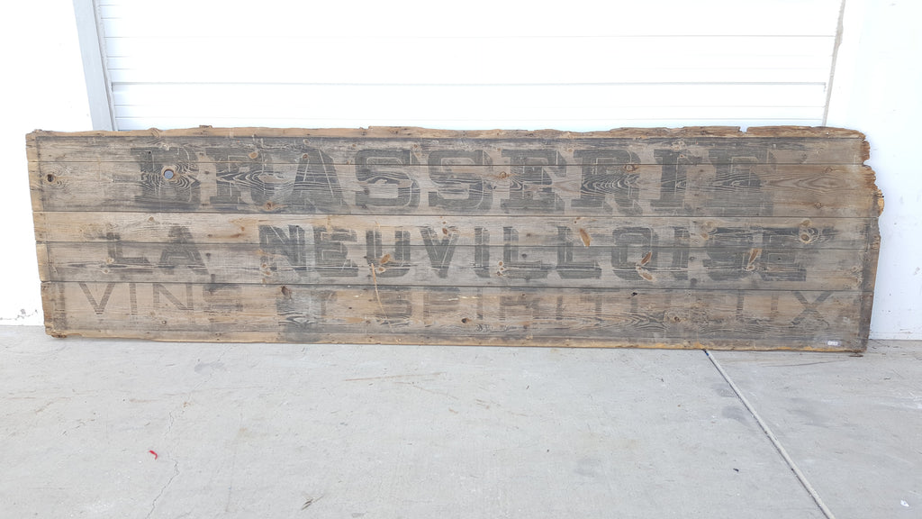 Wood Brasserie Sign