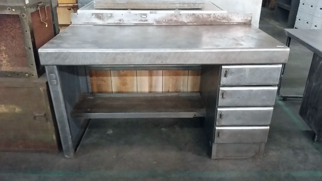Industrial Stainless Steel Desk Antiquities Warehouse