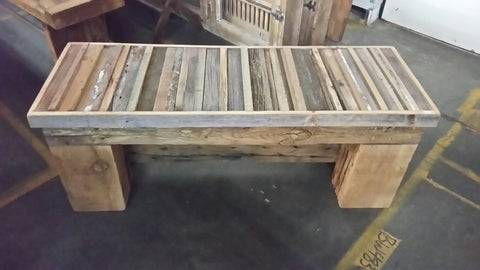 Re-purposed Barnwood Bench