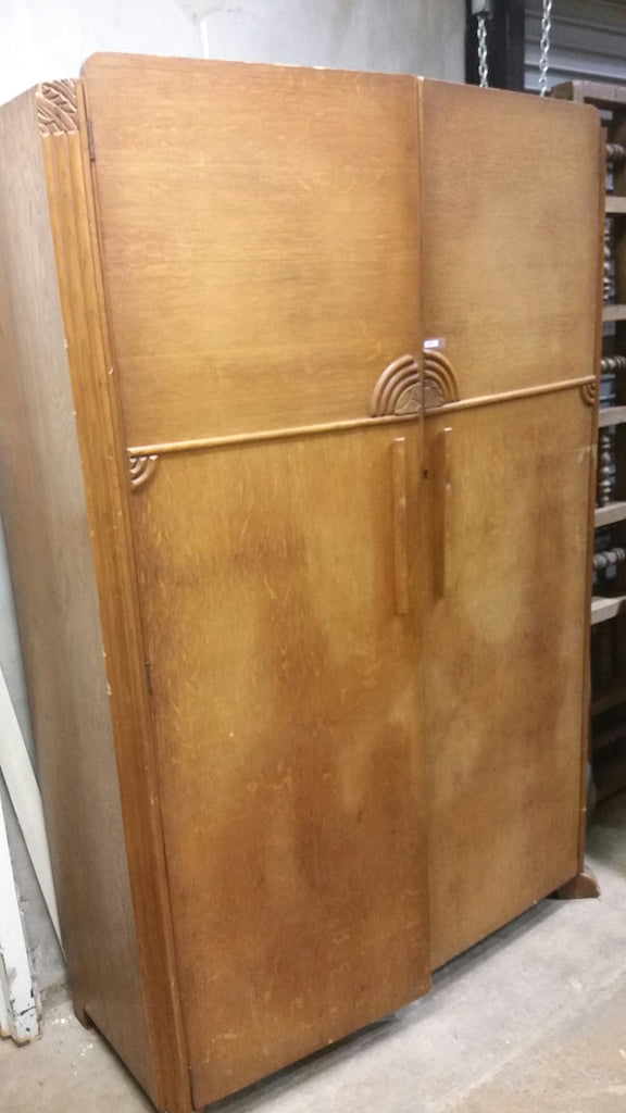 1920's Tiger Oak Wardrobe