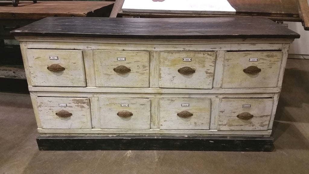 French, 8 Drawer Chocolate Store Cabinet