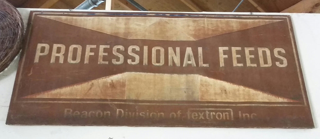"Sign, ""Professional Feeds"""