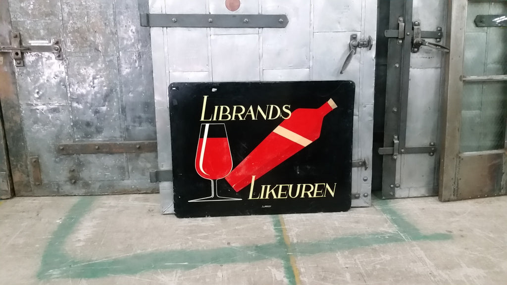 "Dutch Advertising Sign, ""Librands Likeuren"""