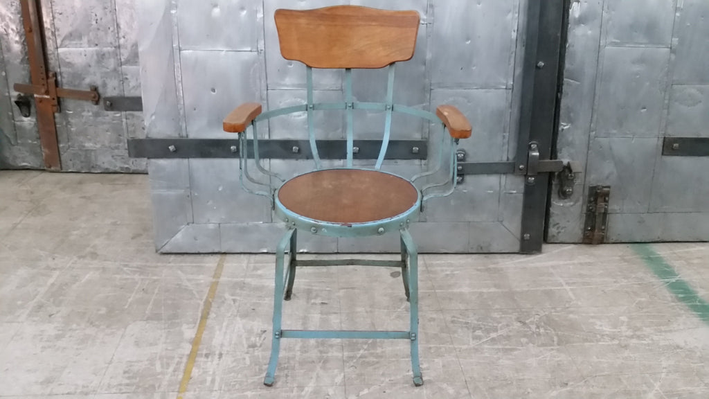 Metal and Wood Arm Chair