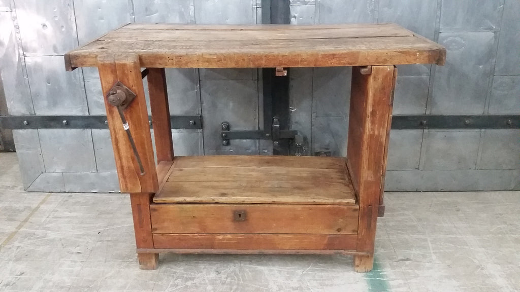 Antique Work Bench w. Vise