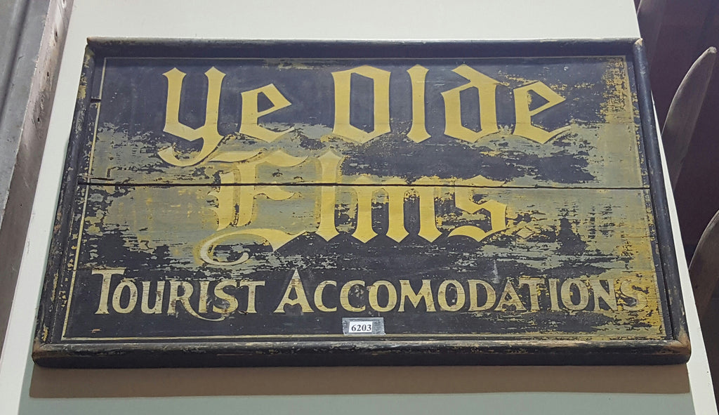 Ye Olde Elms Wooden Sign