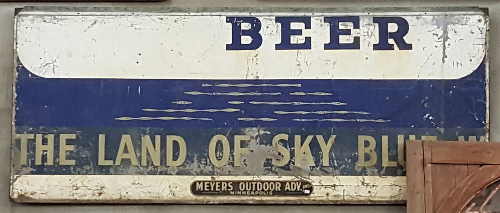 Beer, The Land of Sky Blue Metal Sign
