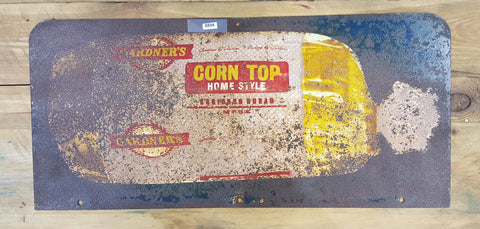 "Metal Sign, ""Corn Top Bread"" (Restaurant)"