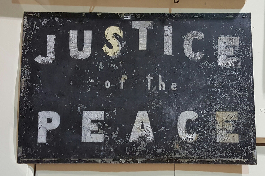 "Metal Sign ""Justice of the Peace"""