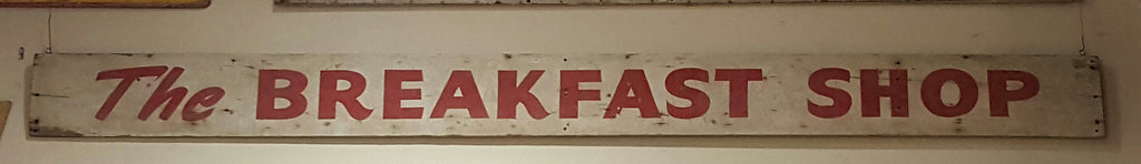 "Wood Sign, ""The Breakfast Shop"""