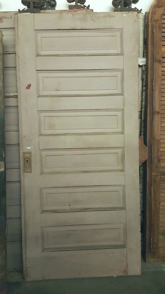 6 Panel Pocket Door with Hardware and Track