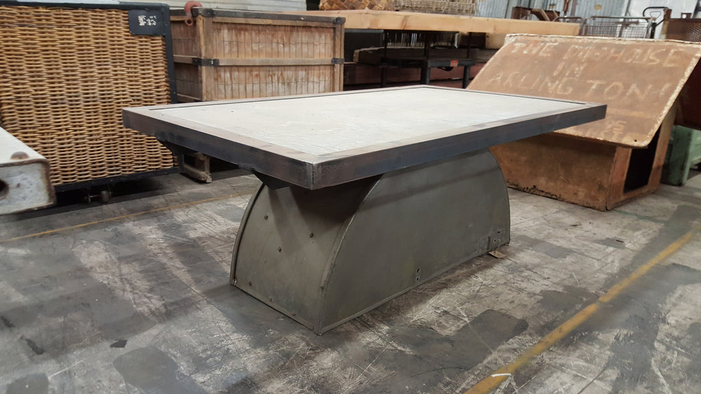 Bin Cap Table with Concrete Top