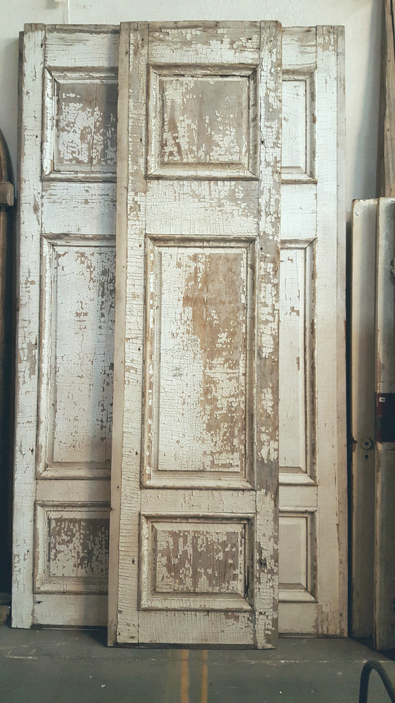 Large White Paneled Door
