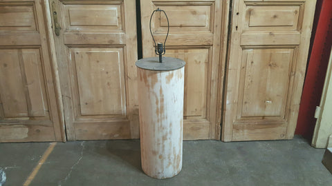 White Column Floor Lamp