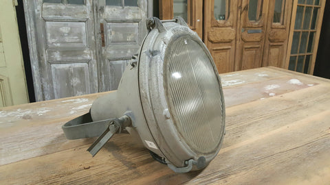 Galvanized Metal Spotlight