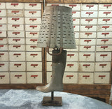 Repurposed Olive Bucket Boot Form Table Lamp