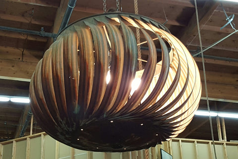 Large, Repurposed Attic Turbine Light