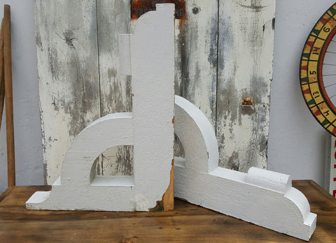 Pair of White Corbels