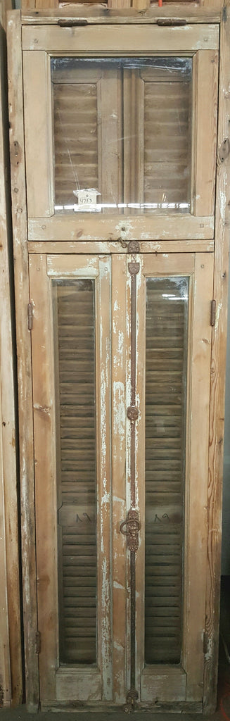 Single Pane Window with Transom and Shutter Set