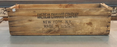 """American Cyanamid Co."" Wooden Crate"