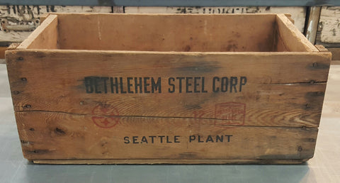 """Bethlehem Steel"" Wooden Crate"