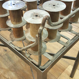 Repurposed Industrial Spool Top Side Table