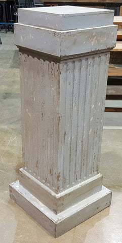 Repurposed Pillar Floor Lamp