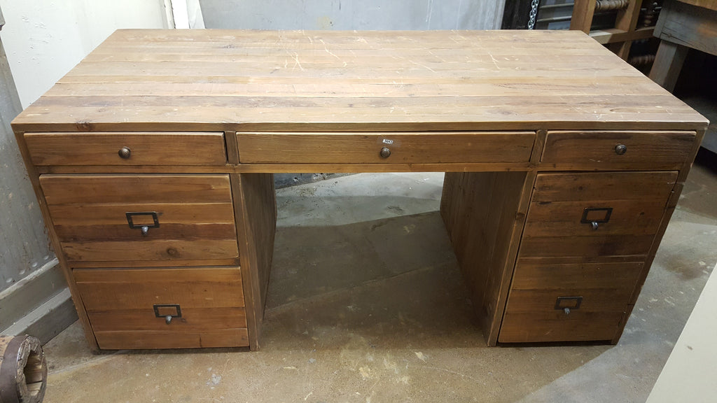 5 Drawer Wood Desk