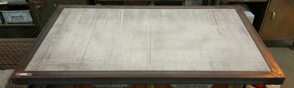 Steel Edge Concrete Table Top