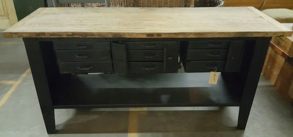 9 Drawer Desk/Console Table