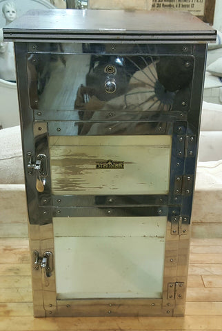 Antique Chrome Barber's Cabinet