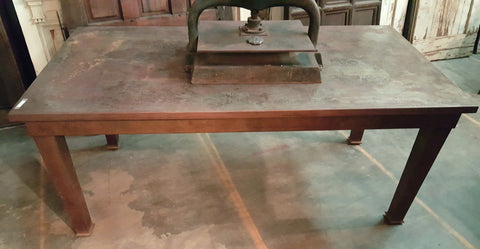 Sheet Metal and Steel Dining Table