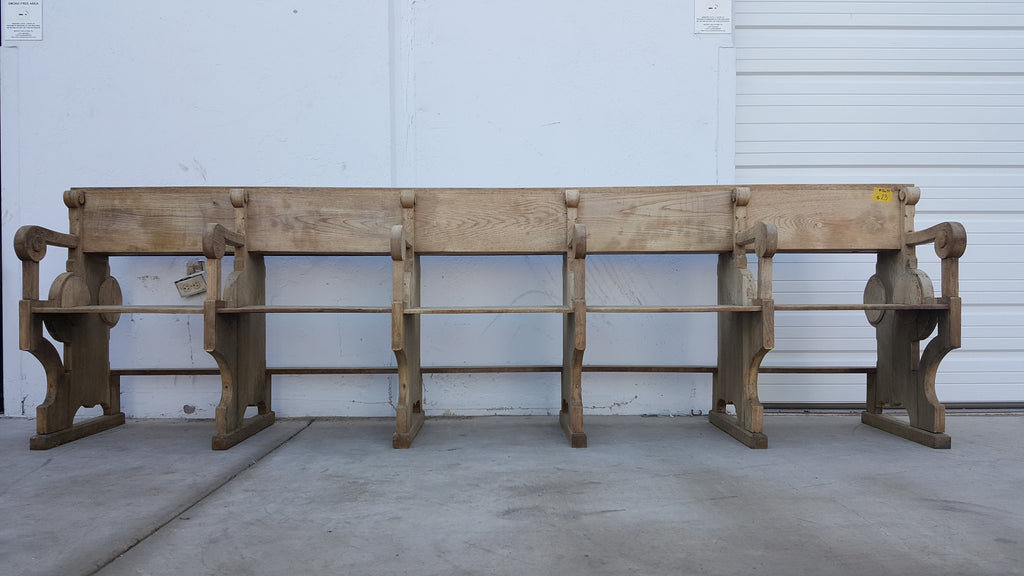 Bleached Wood Church Bench/Pew