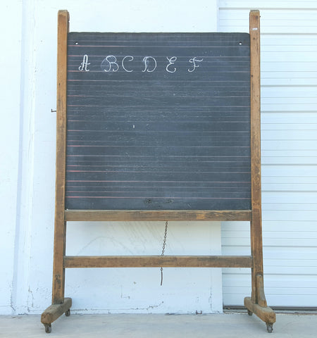Children's Double Sided Rolling Chalkboard