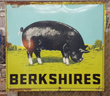 Berkshires Hog Metal Sign