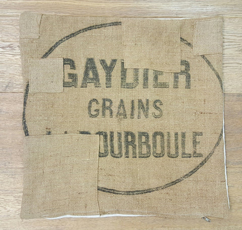 Square French Grain Sack Pillow Case