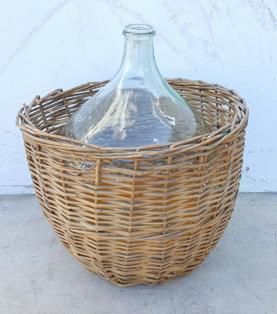 Clear Glass Demijohn Wine Bottle