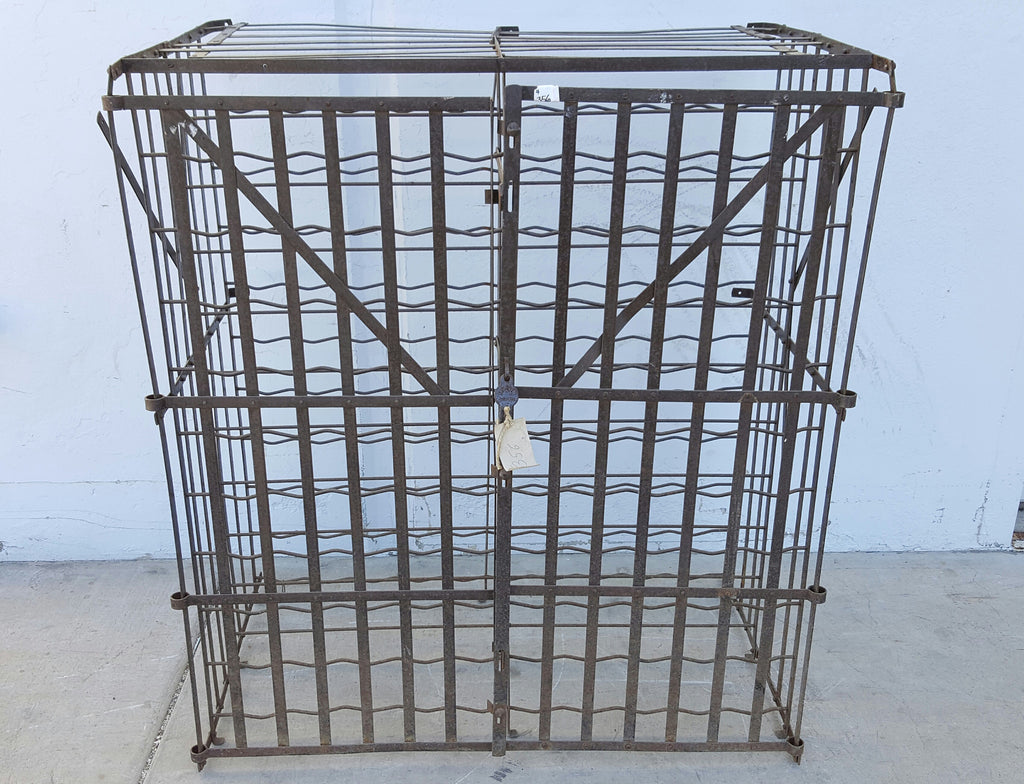 Good Antique French Rigidex Wine Storage Cage