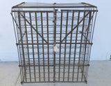 Antique French Rigidex Wine Storage Cage