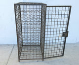 Wine Cage, small metal, brown