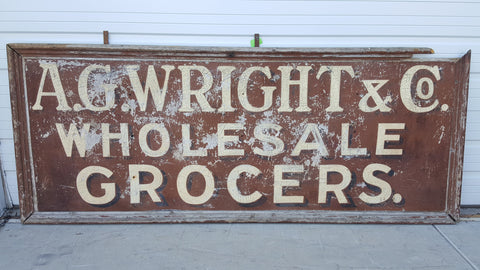 A.G. Wright Grocers Sign
